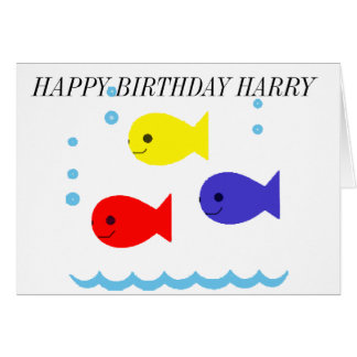 THREE LITTLE FISHES BIRTHDAY CARD