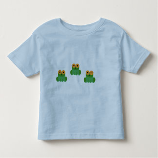 Three Little Frogs Toddler Shirt