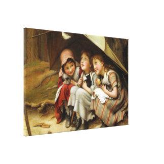 """Three Little Kittens"" Canvas Print"