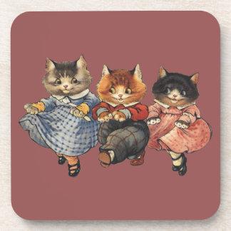 Three Little Kittens Coaster