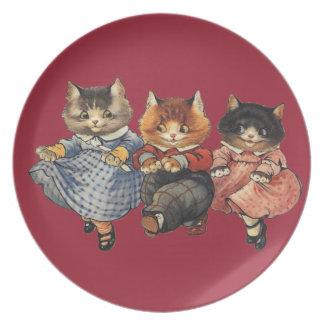 Three Little Kittens Dinner Plate