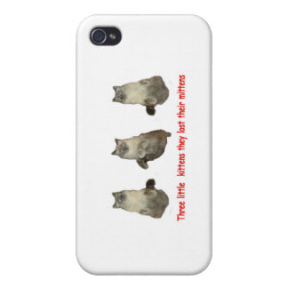 Three little kittens iPhone 4 cover