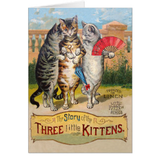 Three Little Kittens Mother Goose Card