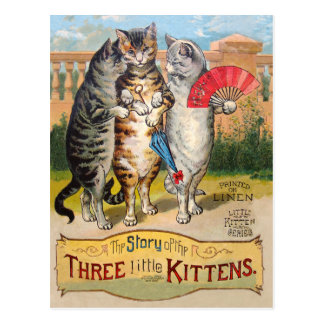 Three Little Kittens Mother Goose Postcard
