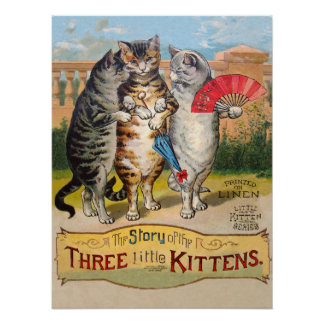 Three Little Kittens Mother Goose Poster