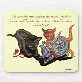 Three Little Kittens Mouse Pad