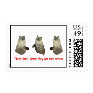 Three Little Kittens Postage