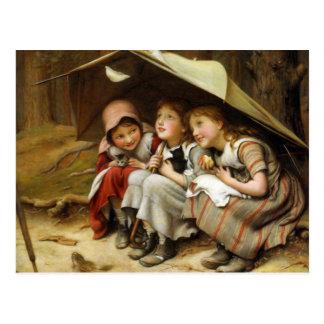 """Three Little Kittens"" Postcard"
