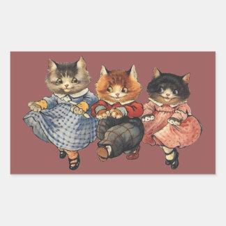 Three Little Kittens Rectangular Sticker