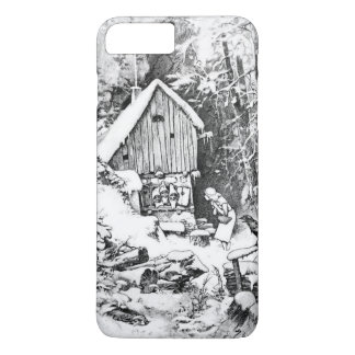 Three Little Men vintage art iPhone 8 Plus/7 Plus Case