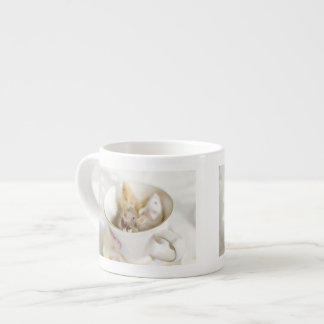 Three little mice siting in cup