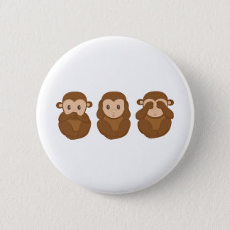Three little monkeye button