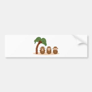 Three little monkeys - three macaquinhos bumper sticker