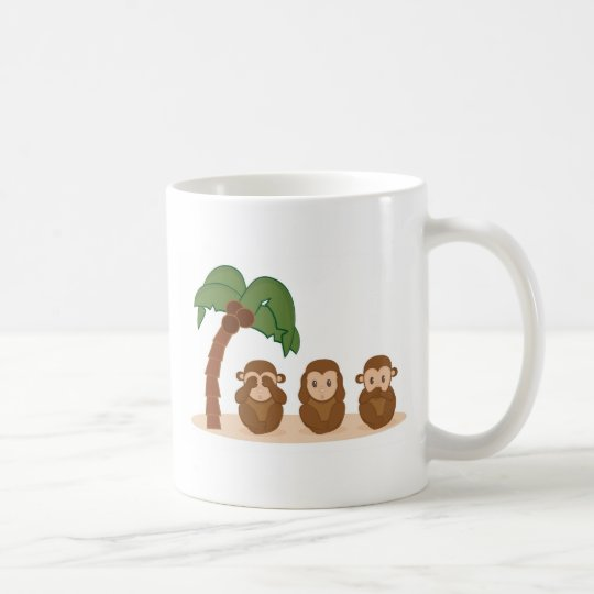 Three little monkeys - three macaquinhos coffee mug