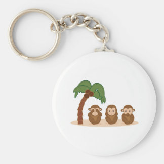 Three little monkeys - three macaquinhos keychain