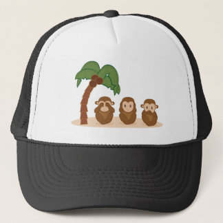 Three little monkeys - three macaquinhos trucker hat