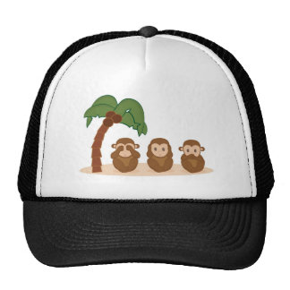 Three little monkeys - three macaquinhos trucker hat