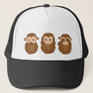 Three Little Monkeys Trucker Hat
