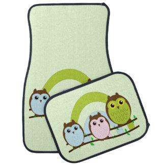 Three Little Owls Car Mat