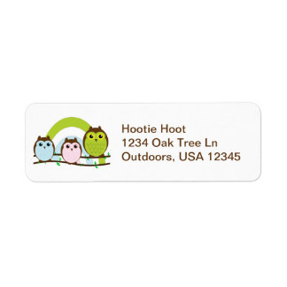 Three Little Owls Label