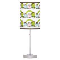 Three Little Owls Pattern Desk Lamp