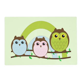 Three Little Owls Placemat