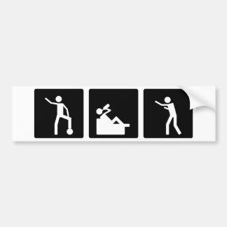 Three Little Pics - Men 10 Bumper Sticker