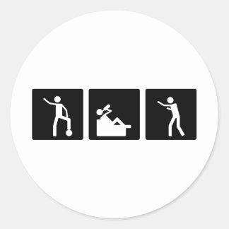 Three Little Pics - Men 10 Classic Round Sticker