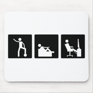 Three Little Pics - Men 5 Mouse Pad