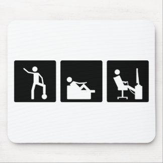 Three Little Pics - Men 5 Mouse Pad