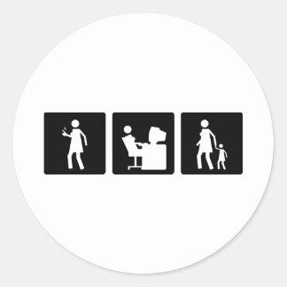 Three Little Pics - Women 5 Classic Round Sticker