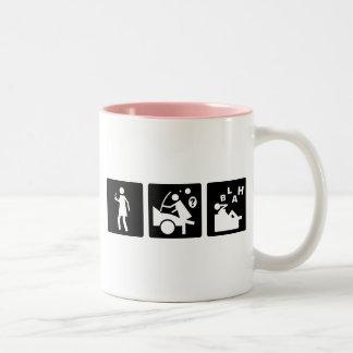 Three Little Pics - Women 7 Two-Tone Coffee Mug
