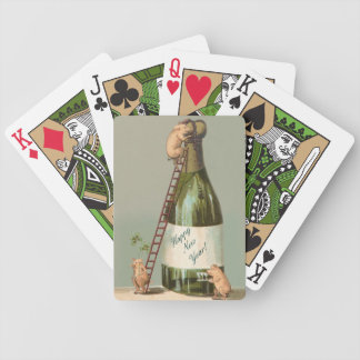 Three Little Pigs and a Bottle of Champagne Bicycle Playing Cards