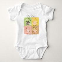 Three Little Pigs & Big Bad Wolf Baby Bodysuit