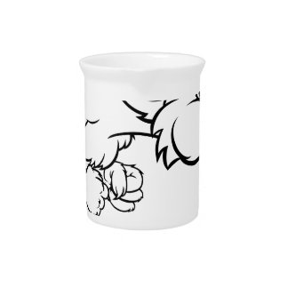 Three Little Pigs Big Bad Wolf Blowing Drink Pitcher