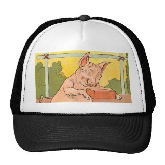 Three Little Pigs: Bricks to Build a House Hat