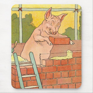 Three Little Pigs: Bricks to Build a House Mouse Pad