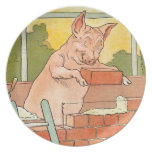 Three Little Pigs: Bricks to Build a House Party Plate