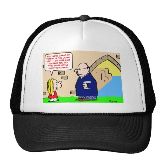 three little pigs church daniel trucker hat