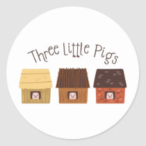 Three Little Pigs Classic Round Sticker