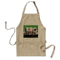 Three little pigs - cute pig - three pigs adult apron