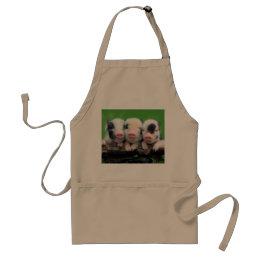 Three little pigs - cute pig - three pigs adult apron