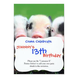 Three little pigs - cute pig - three pigs card