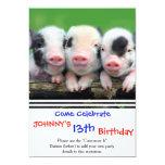 Hand shaped Three little pigs - cute pig - three pigs card