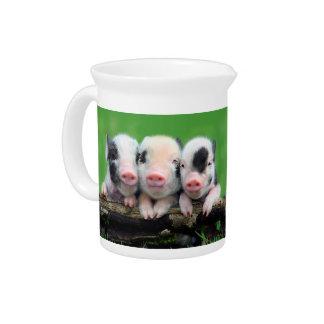 Three little pigs - cute pig - three pigs drink pitcher
