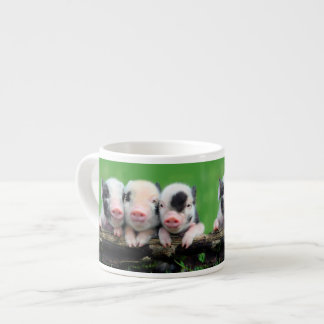 Three little pigs - cute pig - three pigs espresso cup