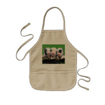 Three little pigs - cute pig - three pigs kids' apron