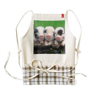 Three little pigs - cute pig - three pigs zazzle HEART apron