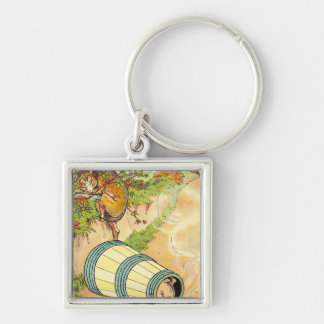 Three Little Pigs: Frightened The Wolf Key Chain