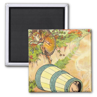 Three Little Pigs: Frightened The Wolf Refrigerator Magnet